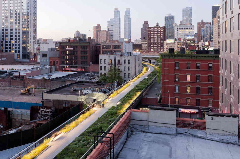 High Line urban park project di New York