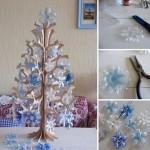 Christmas Tree con fondo bottiglia di plastica