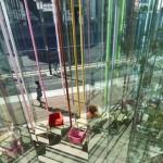La facciata in vetro che diventa veranda