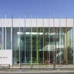 L'arcobaleno della Sugamo Shinkin Bank a Ekoda