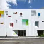 Le finestre colorate della filiale di Tokiwadai