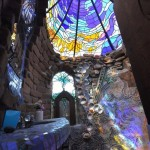 Doccia vetrata a mosaico