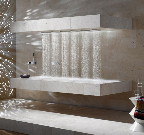 Horizontal shower by Donbracht