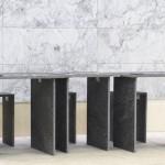 Tavolo in marmo grigio