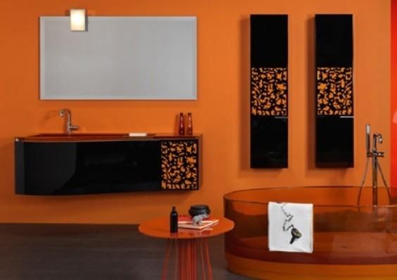 Habimat nero e arancione abbinamento da u cpaurau d per una casa in