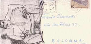 Cartolina-di-Sergius-Ruegenberg-a-Mario-Ciammitti.-Caricatura-di-Mies-Van-Der-Rohe-a-opera-di-Ruegenberg