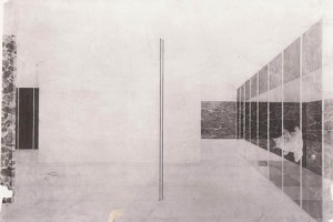 Schizzo-di-Mies-van-der-Rohe-prospettiva-di-interno