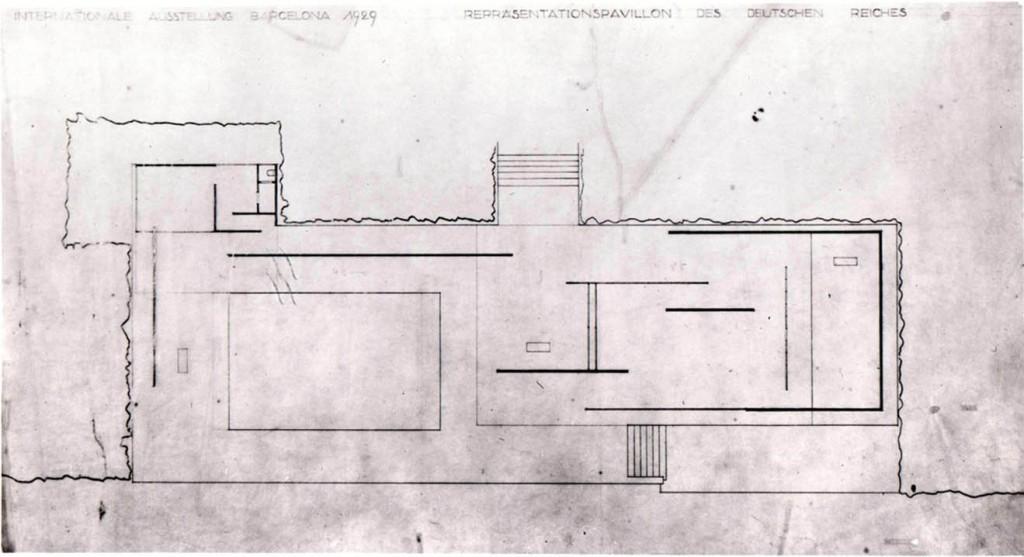I disegni di Mies Van Der Rohe per il Padiglione Barcellona