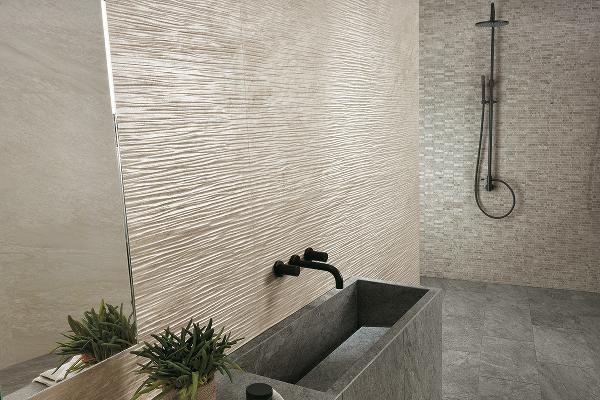 Habimat pietre e marmo ispirano le collezioni di atlas - Rivestimento bagno effetto marmo ...