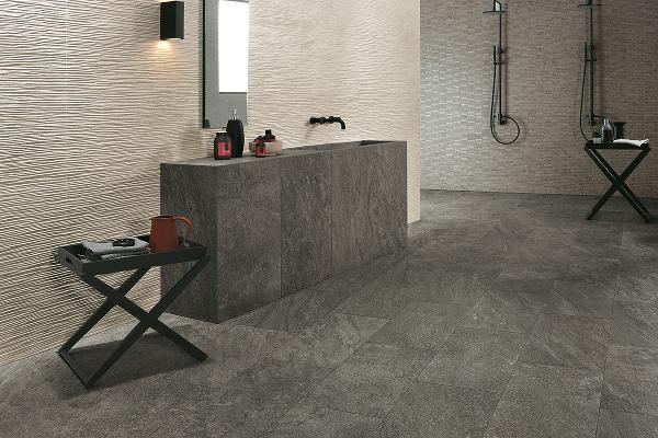 Habimat pietre e marmo ispirano le collezioni di atlas concorde - Rivestimento bagno effetto marmo ...