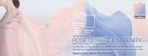 Color of the Year Rose Quartz Serenity 2016