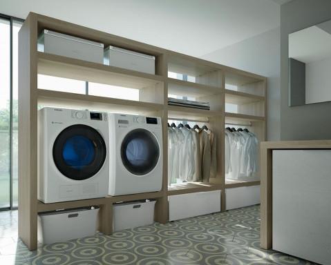 Habimat ideagroup ripensa l 39 ambiente lavanderia con la - Lavatrice in bagno soluzioni ...