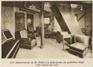 Appartamento di Gustave Eiffel cartolina d'epoca