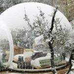 Tenda a bolla innevata