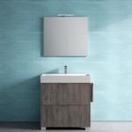 Ideagroup, collezione Basic, lavabo e specchio