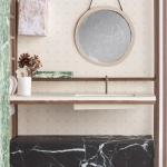 stanza da bagno per uomo, studio wok, particolare
