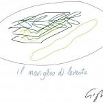 Il disegno della ricetta Il naviglio di levante di Alberto Gigli Architetto