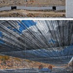 Christo Over the River (Project for Arkansas River, State of Colorado) Drawing 2012  Photo- André Grossmann © 2012 Christo