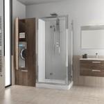 Revolution Novellini, doccia con alloggiamento lavatrice