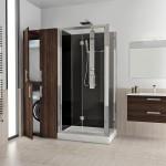 Revolution Novellini, doccia con alloggiamento lavatrice e asciugatrice