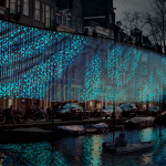 """Lightwaves"", Benthem Crouwel Architects, foto Amsterdam Light Festival"