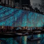 """Lightwaves"", Benthem Crouwel Architects, foto Amsterdam Light Festival"