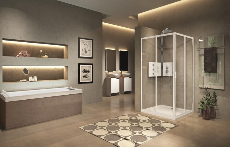 HABIMAT - Lunes 2.0, il nuovo box doccia di Novellini