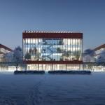 Render ospedale Città della Salute e della Ricerca di Sesto San Giovanni, foto Mario Cucinella Architects