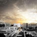 Render nuovo Polo chirurgico e delle urgenze per l'ospedale San Raffaele di Milano, foto Mario Cucinella Architects