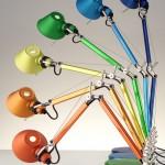 La lampada Tolomeo disegnata da Michele De Lucchi e Giancarlo Fassina per Artemide, foto Artemide