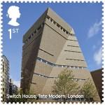 Tate Modern Switch House / Herzog & de Meuron, courtesy  Royal Mail