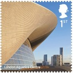 London Aquatics Center per le Olimpiadi Olimpiche 2012 / Zaha Hadid Architects, courtesy Royal Mail