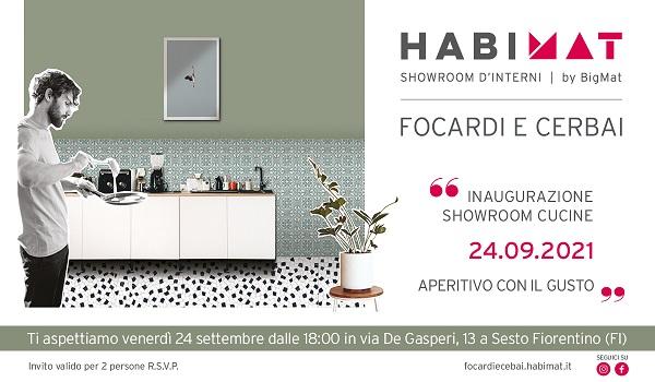 HABIMAT Focardi e Cerbai: invito inaugurazione showroom cuncine