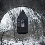 Casa nera sospesa, Pardubice, Repubblica Ceca, H3t Architekti