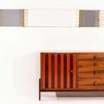 Credenza, 1959, Poltronova; specchio 1960, Santambrogio & De Berti - Credit: Artcurial