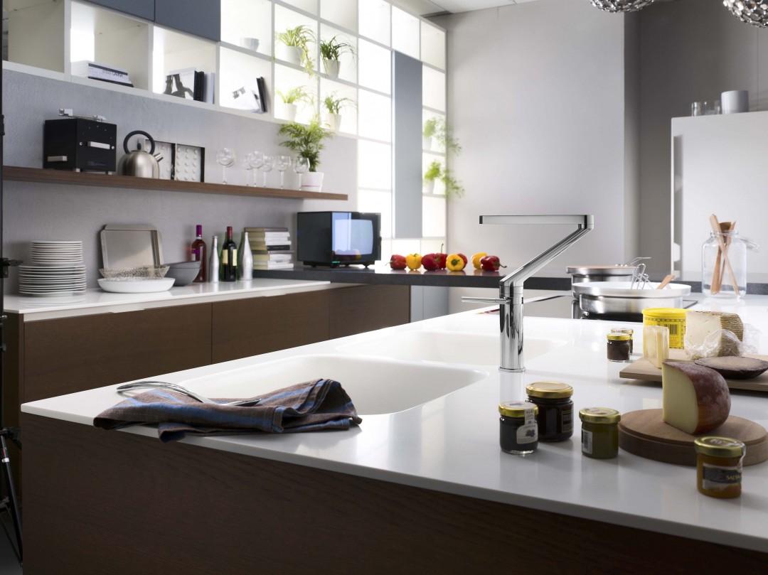 Habimat con il miscelatore zoom di nobili rotazione a 360 gradi - Miscelatore cucina economico ...