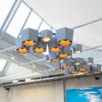 Plastic Whale Circular Furniture, lampade
