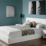 Camera da letto pareti verde salvia