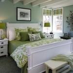 Camera da letto pareti verdi