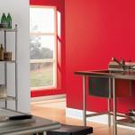 Cucina pareti rosse