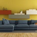 Soggiorno pareti gialle
