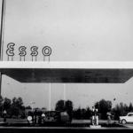 Stazione di benzina Esso di Como disegnata da Adolfo Franchini nel 1963, Photo credits: Adolfo Franchini