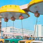 Ex Lada gas e ora Avias petrol station a Kiev, Photo credits: SovietPostcards