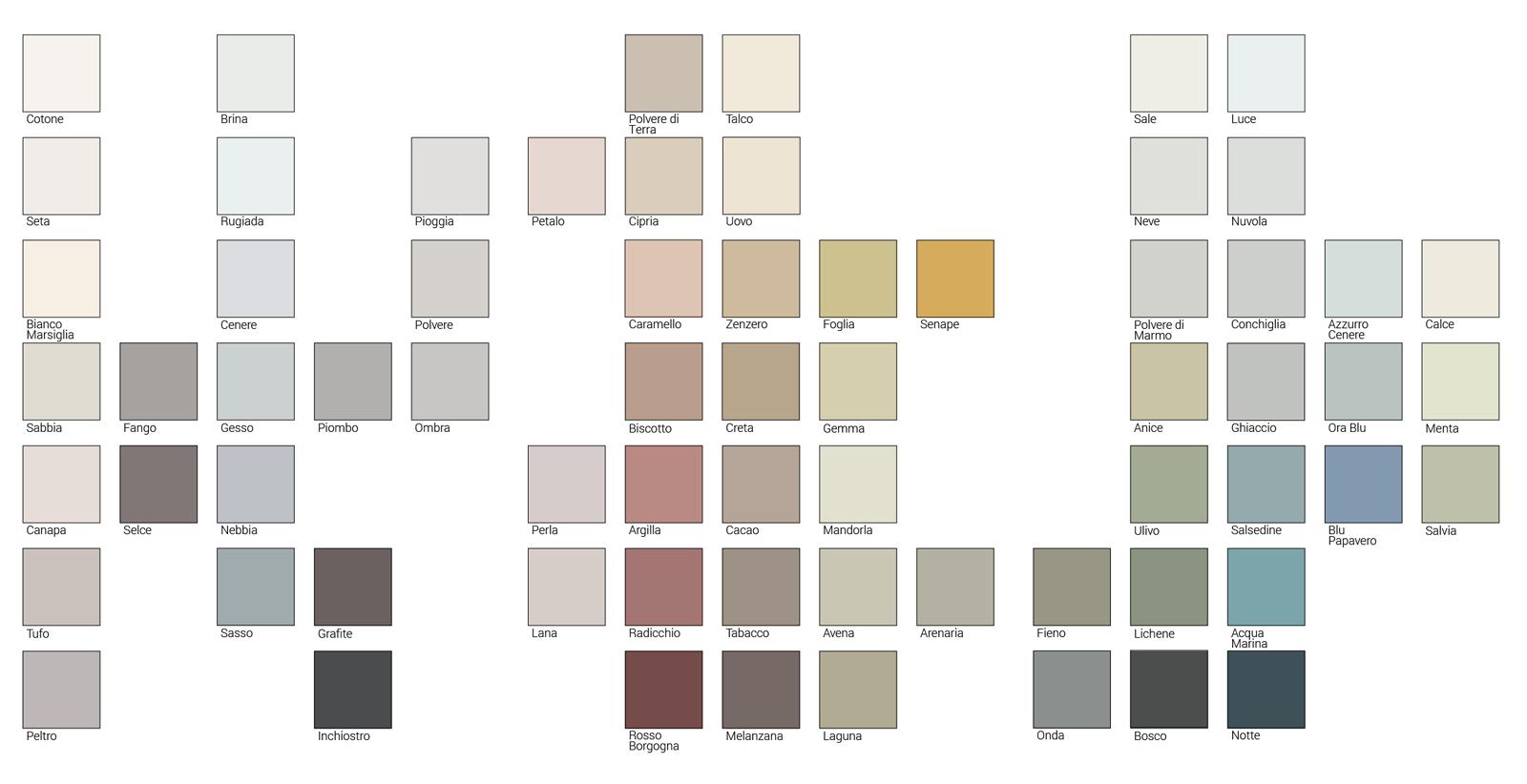 67 colori disponibili in esclusiva negli showroom HABIMAT e nei punti vendita BigMat